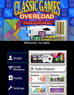 Classic games overload: card & puzzle edition (2012) promotional.